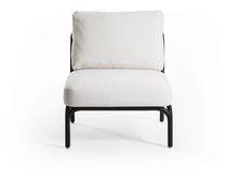 Contemporary armchair / aluminium / garden