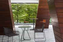 Contemporary table / HPL / round / garden