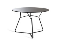 Contemporary dining table / HPL / round / garden