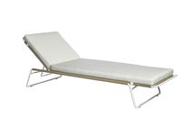 Contemporary chaise longue / stainless steel / garden / adjustable backrest