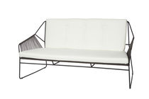 Contemporary sofa / garden / stainless steel / 3-seater