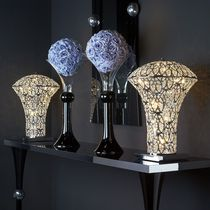 Table lamp / original design / crystal / stainless steel