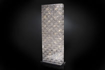 Floor-standing lamp / original design / crystal / stainless steel