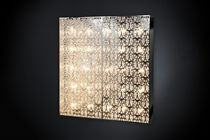 Original design wall light / crystal / stainless steel / halogen