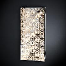 Original design wall light / crystal / stainless steel / halogen