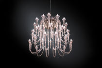Contemporary chandelier / Pyrex® / incandescent / custom