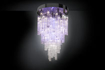 Contemporary chandelier / Murano glass / LED / handmade