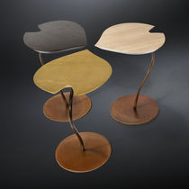 Contemporary side table / wooden / iron / commercial