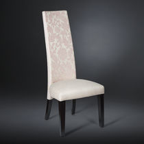 Contemporary chair / high-back / upholstered / beech