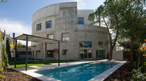 Standard model house / contemporary / concrete / two-story