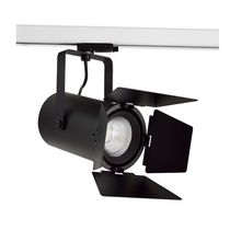 LED track light / round / aluminum / commercial