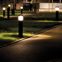 Urban bollard light / contemporary / COR-TEN® steel / acrylic