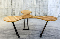 Original design boardroom table / solid wood / for offices