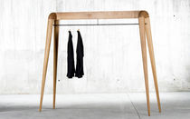 Contemporary clothes rack / solid wood / oak / walnut