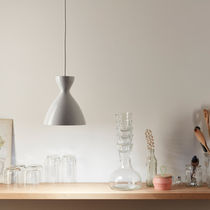 Pendant lamp / contemporary / lacquered steel / white