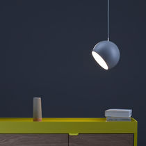 Pendant lamp / contemporary / stainless steel / lacquered aluminum