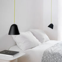 Pendant lamp / contemporary / brass / stainless steel