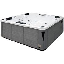 Built-in hot tub / square / 7-seater / outdoor