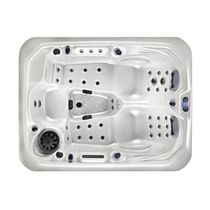Built-in hot tub / square / 3-seater / outdoor