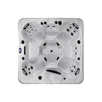 Built-in hot tub / square / 6-seater / outdoor