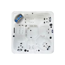Built-in hot tub / square / 5-seater / outdoor