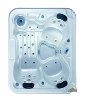 Built-in hot tub / rectangular / 3-seater / outdoor