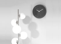 Contemporary clock / analog / wall-mounted / felt