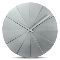 Contemporary clock / analog / wall-mounted / polystyrene