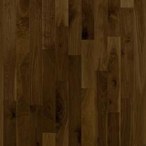 Solid wood flooring / engineered / glued / walnut