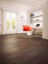 Solid wood flooring / glued / birch