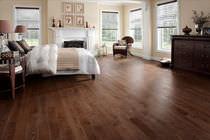 Solid wood flooring / glued / ash / varnished