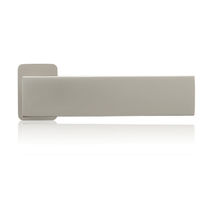Metal door handle / stainless steel / contemporary