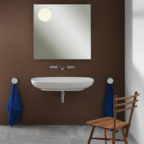 Wall-mounted washbasin / oval / ceramic / contemporary