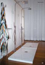 Rectangular shower base / ceramic / flush / extra-flat