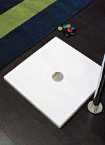 Square shower base / ceramic / flush / extra-flat