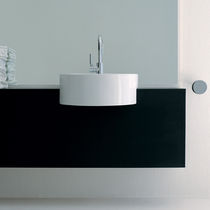 Built-in washbasin / round / ceramic / contemporary