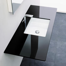 Built-in washbasin / rectangular / ceramic / contemporary