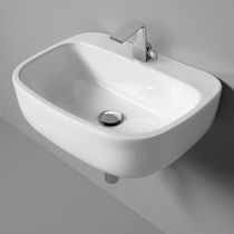 Wall-mounted washbasin / other shapes / ceramic / contemporary