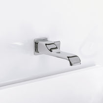 Washbasin mixer tap / wall-mounted / brass / chrome