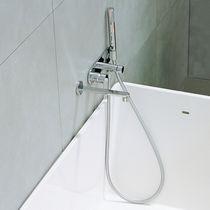 Bathtub mixer tap / built-in / brass / chrome