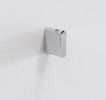 Contemporary coat hook / brass / chromed metal / bathroom
