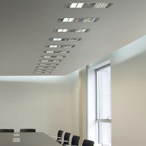 Surface-mounted light fixture / recessed ceiling / LED / square