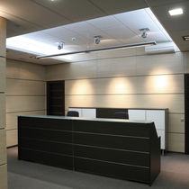 Hanging light fixture / LED / linear / polycarbonate