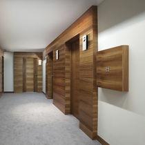 Recessed wall light fixture / LED / rectangular / aluminum