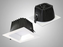 Recessed downlight / LED / square / polycarbonate