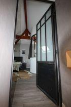 Indoor door / swing / steel / semi-glazed