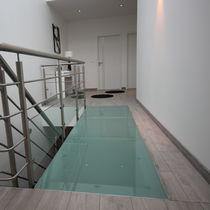 Steel walkway / glass / precast / fixed