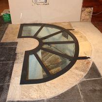 Floor hatch / semicircular / metal / glazed