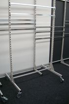 Metal display rack / on casters / for shops