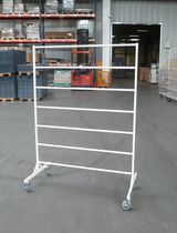 Clothing display rack / metal / on casters / for shops